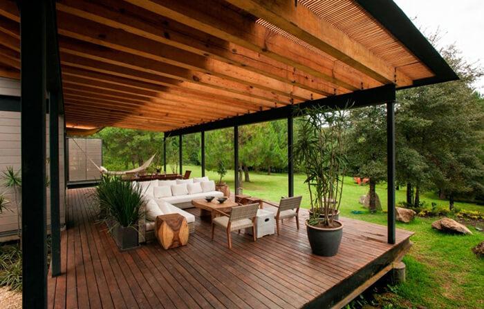 Ilusate terrasside ehitus koos katusega