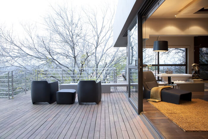 Kaasaegne ja moodne põhjamaine terrass